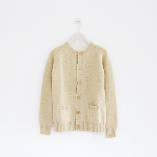 Charpentier de Vaisseau<br>シェットランドクルーネックカーディガン<br>〈 Karly 〉<br>Oatmeal