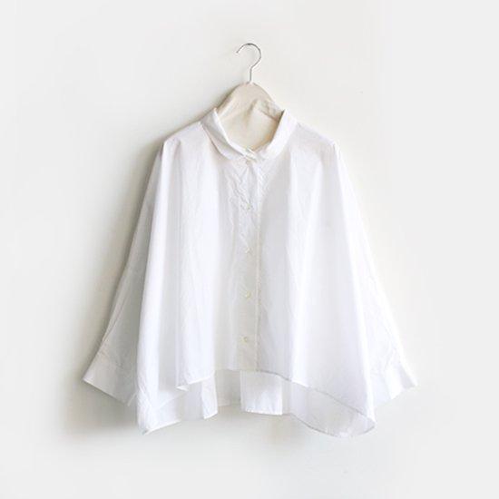 Gallego Desportes<br>ラウンドカラーシャツ<br>White