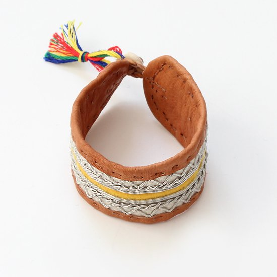 Maria Rudman <br/>Leather Bracelet<br>Yellow