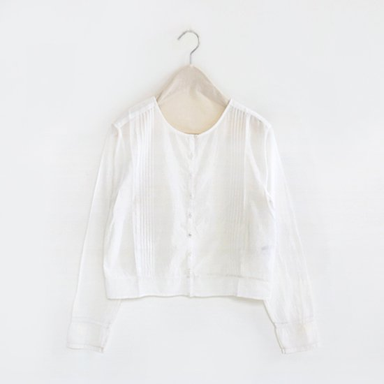 Khadi and Co.<br>ピンタックブラウス<br>〈 Beri 〉<br>White