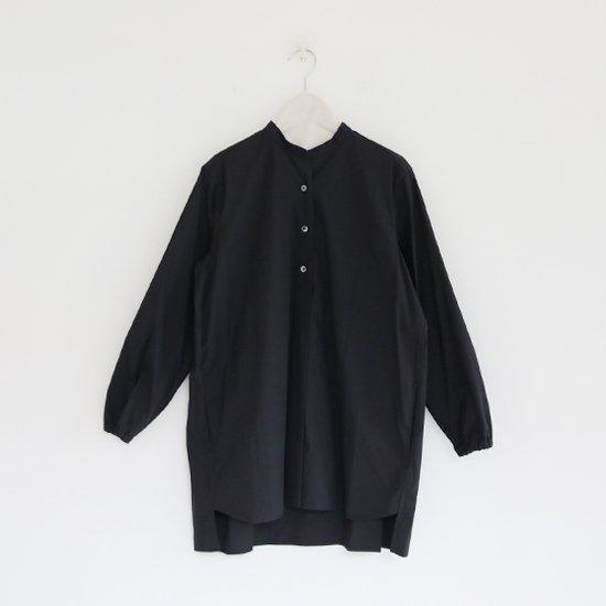 Atelier d'antan | スタンドカラーシャツ  〈 Appel 〉 Black | A232152TS204