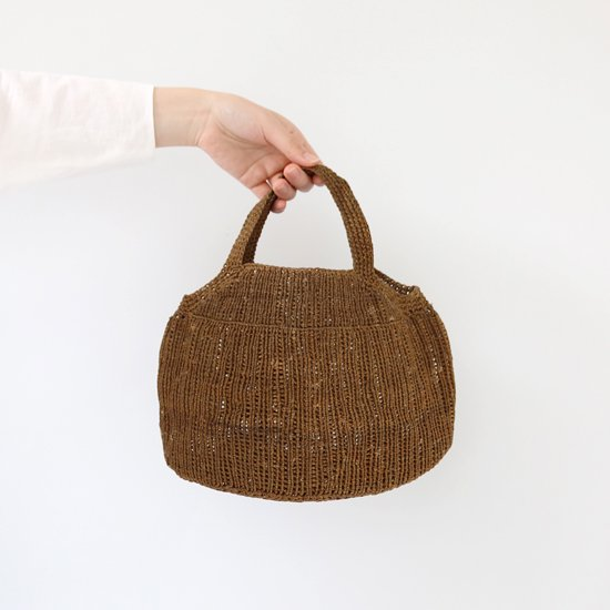 Sophie Digard <br/>Wax Linen Bag / Brown