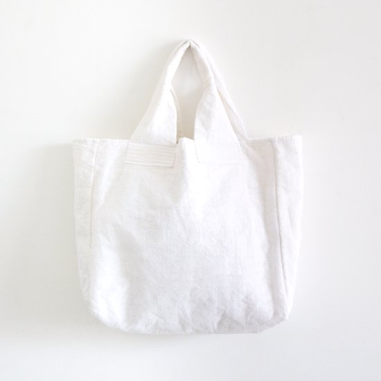 Khadi and Co.<br>オーガンジーコットンバッグ<br>〈 Cabas 〉<br>White