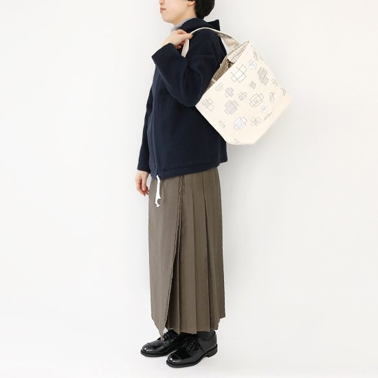 TEMBEA×松林誠<br/>Short Zip Tote<br/>Natural×Silver