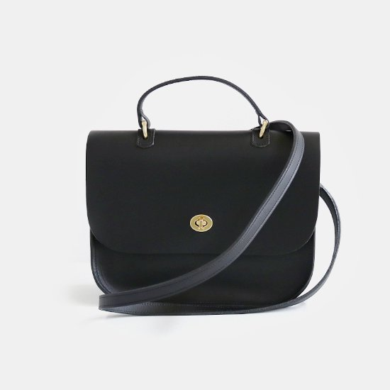 Mimi<BR>Leather Shoulder Bag〈 Aurea 〉<br>Black