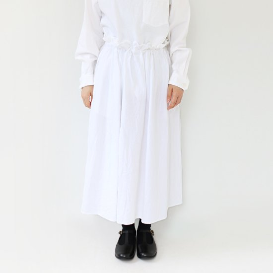 ゴーシュ <br/> India Duck Skirt / White