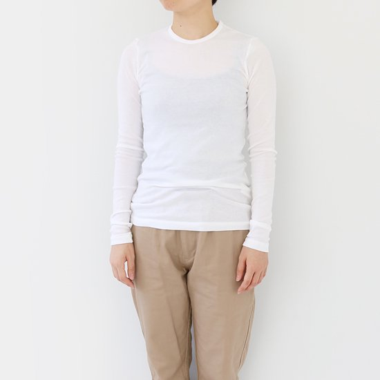 ゴーシュ <br/> Cotton Cashmere Long Sleeve / White