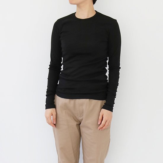 ゴーシュ <br/> Cotton Cashmere Long Sleeve / Black