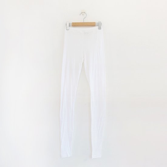 ゴーシュ <br/> Cotton Cashmere Leggings / White