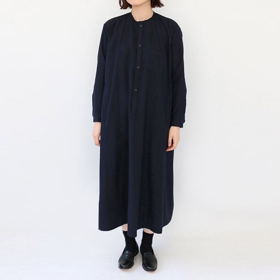 ゴーシュ <br/> Wool Herringbone One-piece / Navy