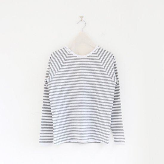 Charpentier de Vaisseau<br>ラグランスリーブボーダーカットソー<br>〈 Jerry 〉<br>White×Light Grey