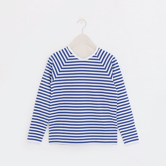 Charpentier de Vaisseau<br>ラグランスリーブボーダーカットソー<br>〈 Jerry 〉<br>White×Blue