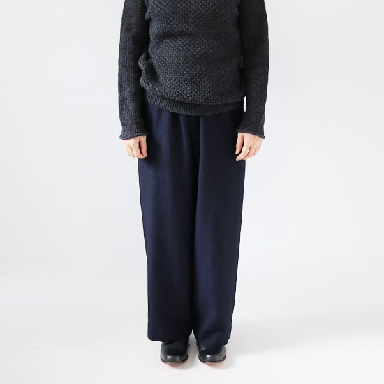 ゴーシュ <br/> Wool Soft Surge Wide Pants<br>Navy
