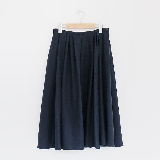 Lin Francais D'antan <BR>Cotton Skirt 〈 Silva 〉<BR>Navy