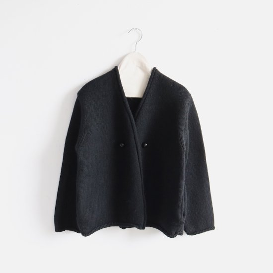 Atelier d'antan | アシンメトリーニットジャケット〈 Degas 〉Black | A232181TK347