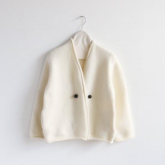 Atelier d'antan | アシンメトリーニットジャケット〈 Degas 〉White | A232181TK347