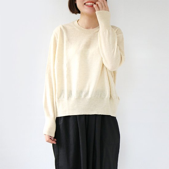<img class='new_mark_img1' src='//img.shop-pro.jp/img/new/icons3.gif' style='border:none;display:inline;margin:0px;padding:0px;width:auto;' />Boboutic <br/>Wool Crew Neck Knit<br/>Natural