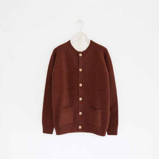 Charpentier de Vaisseau<br>シェットランドクルーネックカーディガン<br>〈 Karly 〉<br>Brown