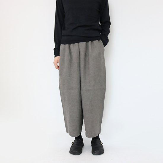 <img class='new_mark_img1' src='//img.shop-pro.jp/img/new/icons3.gif' style='border:none;display:inline;margin:0px;padding:0px;width:auto;' />style+confort <br/>Linen Twill Pants<br/>Grey
