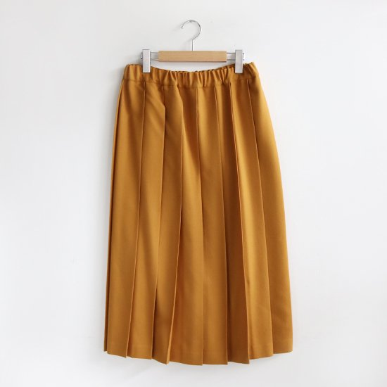 Charpentier de Vaisseau <br/>Pleated Skirt Wool Long〈 Brisa 〉<br>Yellow