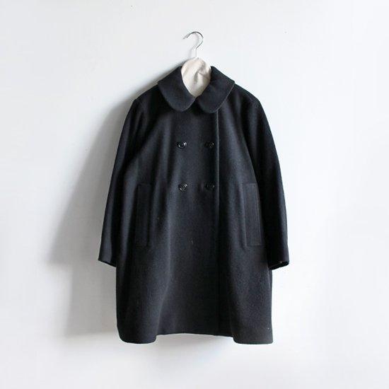 Lin Francais D'antan<br>ウールダブルボタンコート<br>〈 Queneau 〉<br>Black