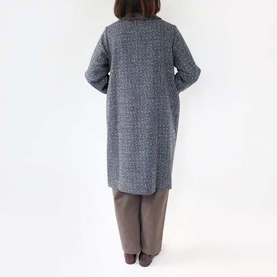 <img class='new_mark_img1' src='//img.shop-pro.jp/img/new/icons3.gif' style='border:none;display:inline;margin:0px;padding:0px;width:auto;' />Lin Francais D'antan <BR>Wool Coat〈 Carra 〉<br>Navy×White
