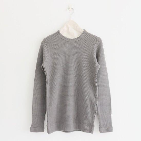 ゴーシュ   ウールワッフルクルーネック Grey   F019182TK322
