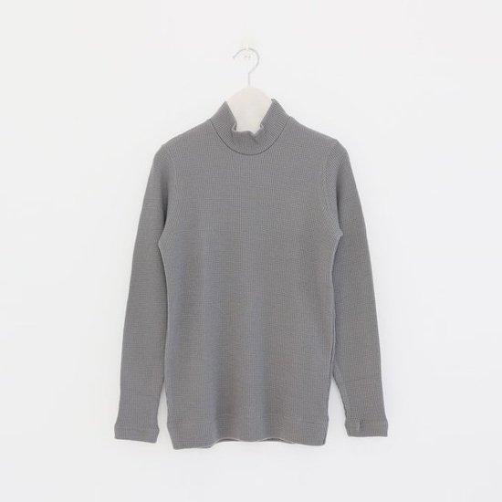 ゴーシュ   ウールワッフルハイネック Grey   F019182TK323