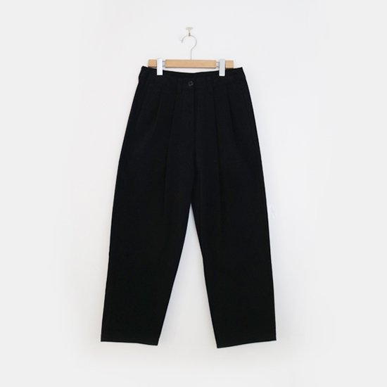 Lin Francais D'antan <BR>Cotton Pants〈 Mor 〉<BR> Black