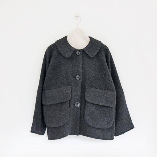 Lin Francais D'antan<br>ウールアルパカジャケット<br>〈 Clouet 〉<br>Dark Grey