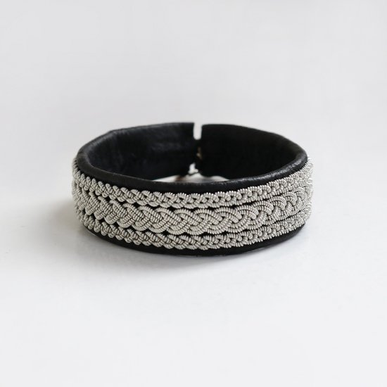 Maria Rudman <br/>Leather Bracelet<br>Black