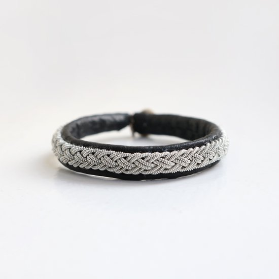 Maria Rudman <br/>Leather Narrow Bracelet<br>Black