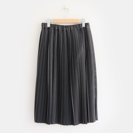 Charpentier de Vaisseau<br>サマーウールナロープリーツスカート<br>〈 Brenda 〉<br>Grey