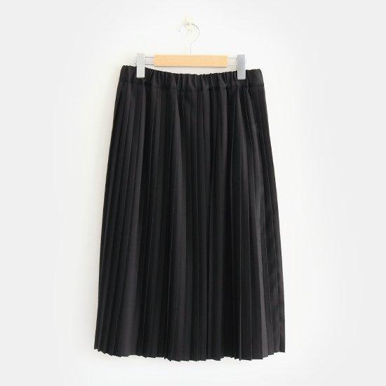 Charpentier de Vaisseau<br>サマーウールナロープリーツスカート<br>〈 Brenda 〉<br>Black