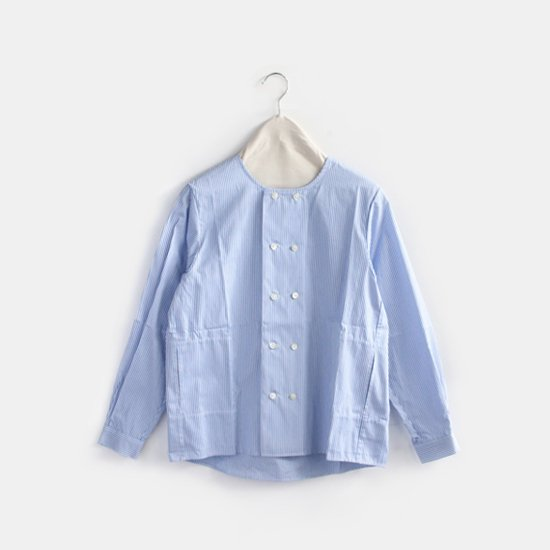 Charpentier de Vaisseau <br/>ダブルボタンシャツ<br/>〈 Sandy 〉<br/>White×Light Blue Stripe