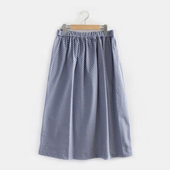Charpentier de Vaisseau | イージーギャザースカート 〈 Belinda 〉 Navy Check | C003191PS307