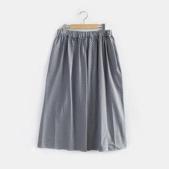 Charpentier de Vaisseau | イージーギャザースカート 〈 Belinda 〉 Black Check | C003191PS307