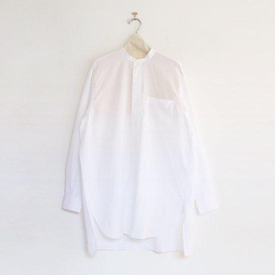 Comoli | バンドカラーシャツ White |F035202TS127