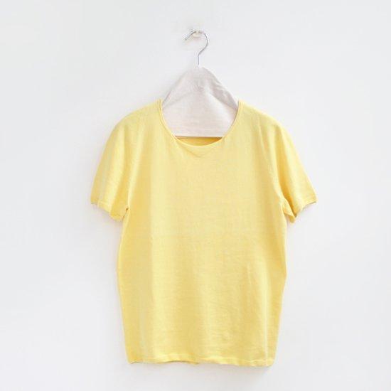 Yuri Park | コットンクルーネックショートスリーブニット〈 Sheba 〉Yellow | D010191TK226
