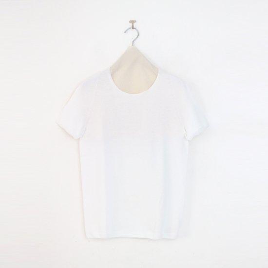 Yuri Park | コットンクルーネックショートスリーブニット〈 Sheba 〉White | D010201TK240