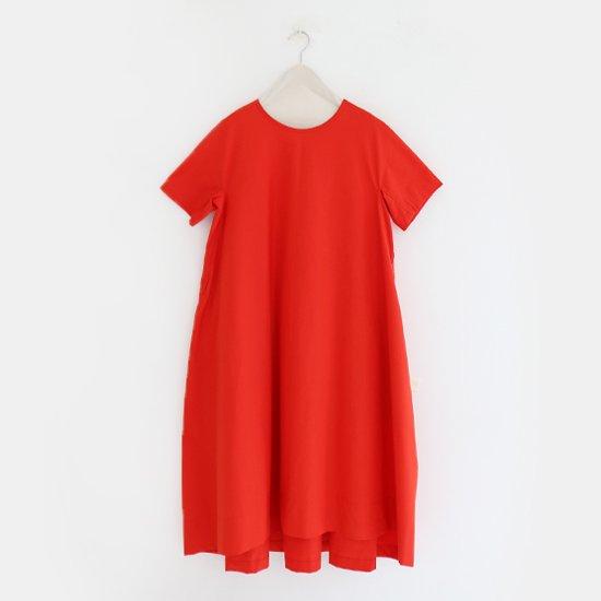 Ricorrrobe<br>コットンショートスリーブドレス<br>Red