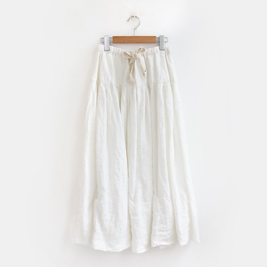 Ricorrrobe<br>リネンリボンスカート<br>White