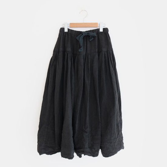 Ricorrrobe<br>リネンリボンスカート<br>Black
