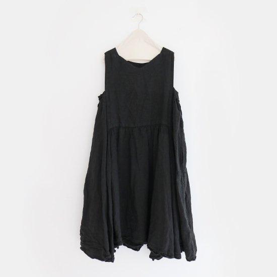 Ricorrrobe<br>リネンノースリーブドレス<br>Black