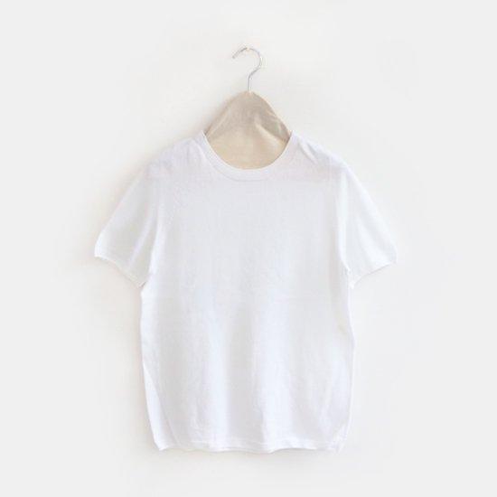 Yuri Park | クルーネックショートスリーブニット〈 Ailanto 〉White | D010191TK221
