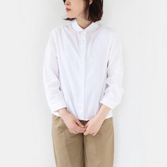 Lin Francais D'antan<br>コットンラウンドカラーシャツ<br>〈 Arndt 〉<br>White