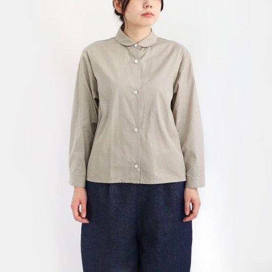 Lin Francais D'antan<br>コットンラウンドカラーシャツ<br>〈 Arndt 〉<br>Light Grey