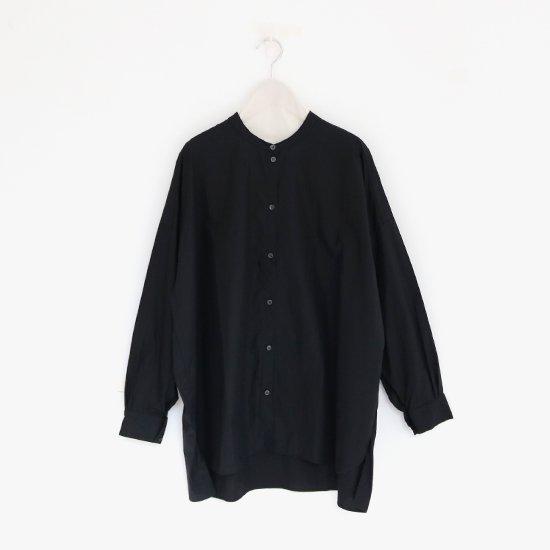 Gallego Desportes | バンドカラーシャツ Black | D001191TS163