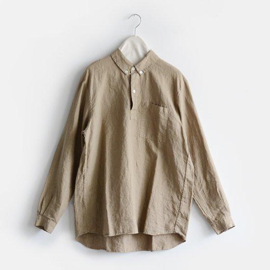 Charpentier de Vaisseau<br>リネンプルオーバーシャツ<br>〈 Steve 〉<br>Khaki