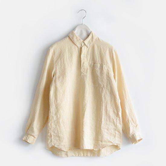 Charpentier de Vaisseau<br>リネンプルオーバーシャツ<br>〈 Steve 〉<br>Light Yellow